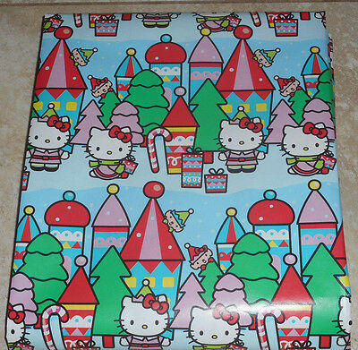 HELLO KITTY AMERICAN GREETINGS CHRISTMAS Wrapping PAPER 20 SQ FT ROLL