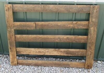4' Oak Swinging Gate Wood Fence Heavy Sorting Cemetery Garden Yard Ornament f