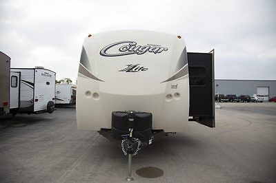 Lowest Payments Cougar Xlite 30RLI Polar 3 Slides Fireplace 1/2 Ton Tow Camper