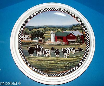 Danbury Mint Farmstead Reflections Plate COWS OF CONTENT Limited Ed Bonnie Mohr