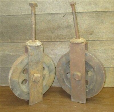 Barn Door Carriage House Rolling Hardware Vintage Pulley Architectural Salvage e