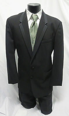 Black Chaps Hudson Tuxedo Jacket with Optional Pants Wedding Prom Mason Cruise