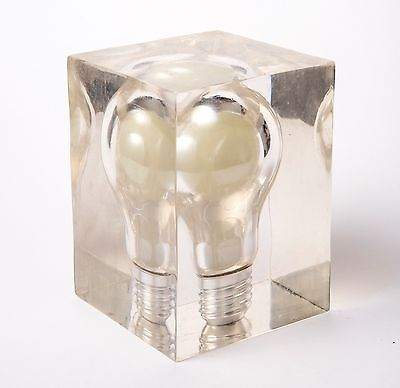 Glow in the Dark Light Bulb Paperweight