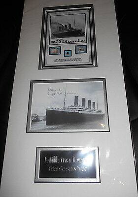 TITANIC COAL montage with personally signed 6x4 survivor MILLVINA DEAN