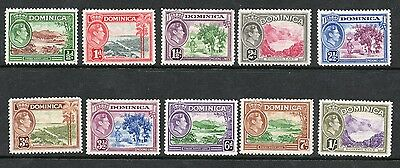 Dominica 1938-47 George Vi Sg99-106 Part Set To 1/- Lightly Mounted Mint