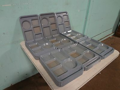 "Lot Of 35 "" Texas Ware "" Heavy Duty Commercial Melamine 5 Compartment Food Trays"