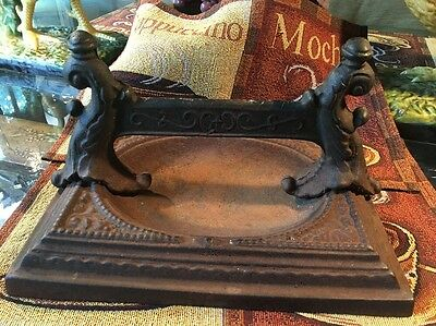 Victorian Cast Iron Boot Scraper Architectural Antique Gothic Period Vintage Old