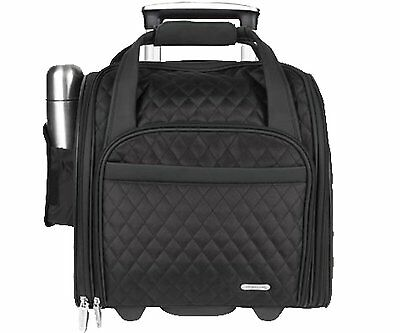Travelon Wheeled Underseat Carry-On with Back-up Bag Black 6454-500
