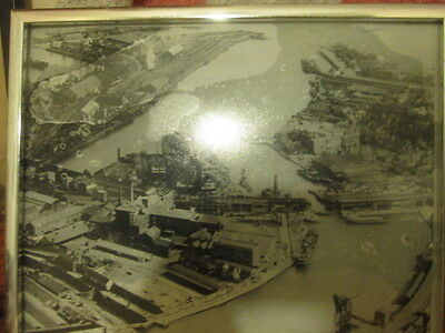 ariel photograph of Swansea docks in the 1920s