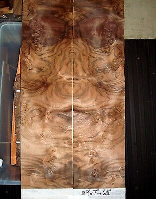 Real Wood Veneer Dark Walnut Burr Sheets For Guitars Dashboards,refurbishments
