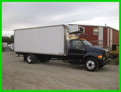 2004 FORD F750 C7 CAT ALLISON 22 FOOT REEFER BOX CARRIER SUPRA 644 Used REEFER