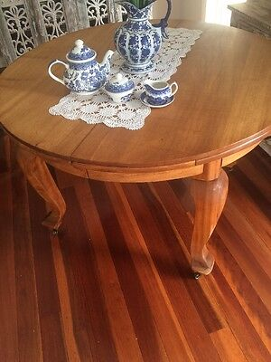 Antique Extension Table Sanded And Oiled