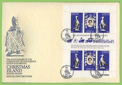 Christmas Island 1978 Coronation sheetlet on First Day Cover
