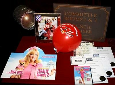 REESE WITHERSPOON Signed LEGALLY BLONDE Props - Balloon, COA, Blu Ray DVD, UACC