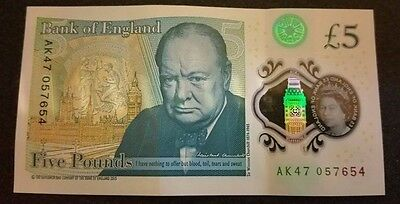 AK47 £5 Pound Note New Genuine Unique Bank of England