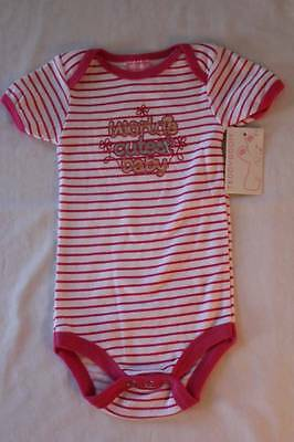 NEW Baby Girls 6 - 9 Months Bodysuit Creeper Outfit Infant 1 Piece Cute Pink