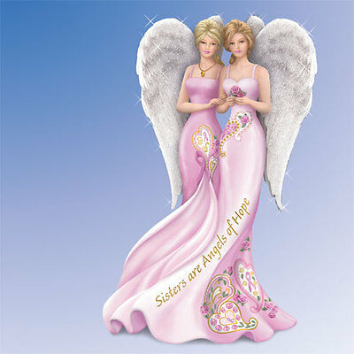 Sisters are Angels of Hope Thomas Kinkade Angelic Figurine - Bradford Exchange