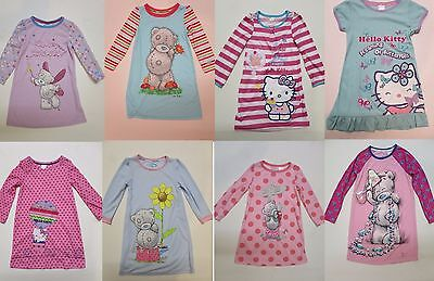 Girls HELLO KITTY / TATTY TEDDY M & S nightie pyjama  2 3 4 5 6 7 8 9 10 years
