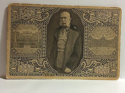Austria Royalty Franciscus Josephus 1848-1908 Antique Postcard Posted Stamped