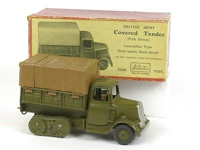 WBritain William Britain 1433 Army Covered Lorry Caterpillar Type with Driver