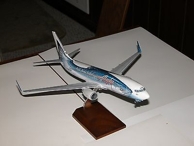 "Alaska Airlines 737-800 1/100 Scale ""Salmon Thirty Salmon"""