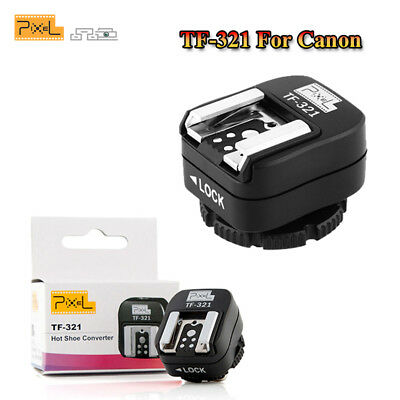Pixel TF-321 e-TTL Flash Hot Shoe to Pc Adapter for Canon DSLRs and Flashguns