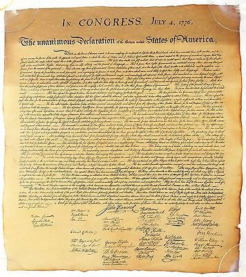 DECLARATION OF INDEPENDENCE BILL of RIGHTS CALL TO ARMS OATH REPLICA PARCHMENT