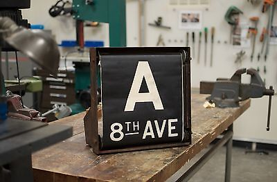 Complete New York City Subway R9 Roll Sign Box Route Arnine 1802 MTA NYC TA