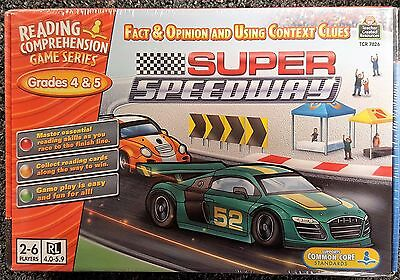 Super Speedway Reading Comprehension Learning Game for Grades 4 and 5 NEW