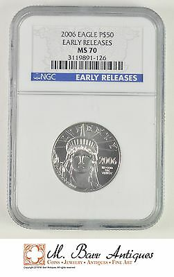 MS70 Early Releases 2006 American Eagle $50 Half Ounce Platinum Bullion - NGC