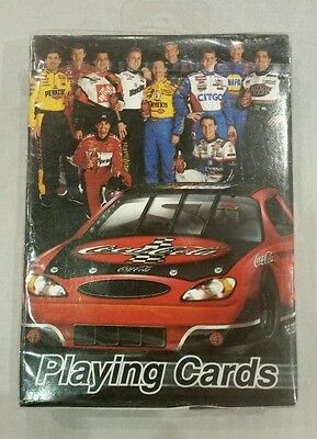 New COCA-COLA OFFICIAL SOFT DRINK OF NASCAR SEALED PLAYING CARDS