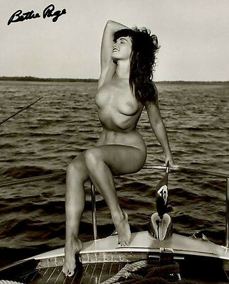 Bettie Page Signed Photo 8X10 Rp Autographed 1954 Florida