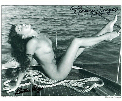 Rare Bettie Page & Bunny Yeager Signed Photo 8X10 Rp Autographed Picture Vintage