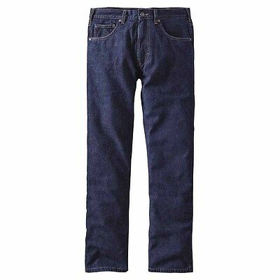 Patagonia Flannel Lined Straight Fit Jeans Pants Regular Pantaloni casual