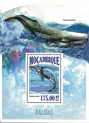 Mozambique 2013 Stamp, MOZ13054B Whales, Fish, Marine Life