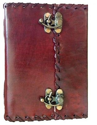 Handmade Leather Journal Stitched Travel Diary Travelers Notebook Hand Made