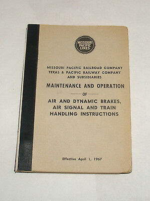 Vintage Railroad Employee Book Missouri Pacific Lines Maintenance And Operation