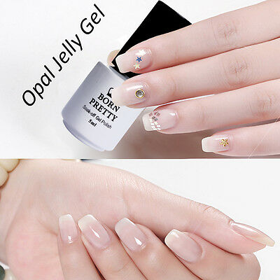 5ml BORN PRETTY Opal Jelly Gel Nail Art UV/LED Gel Polish White Soak Off Varnish