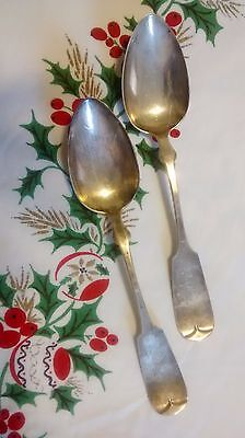 Antique Hallmarked Sterling Silver Serving Spoons 4 pcs