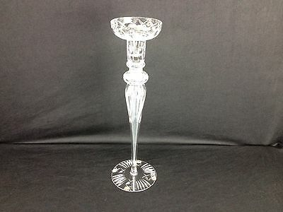 "Nice Vintage Design Guild Crystal Candle Holder 16"" H X 5"" W Great Gift Idea"