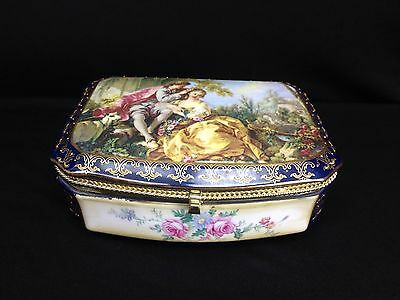 "Lovely Vintage Limoges China Ceramic Box 8.5"" L x 6.5"" W X 3"" H"