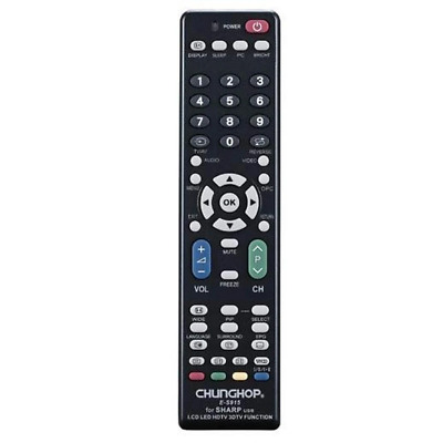 SHARP TV Remote For 3D LCD LED & HD TVs Replacement Control