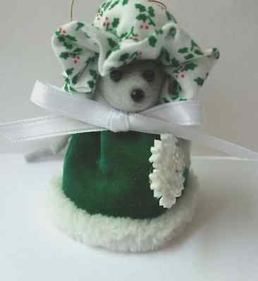 Wintergreen Xmas Mouse Ornaments Handmade Mice Rat Rodent 2 3/4 inches tall