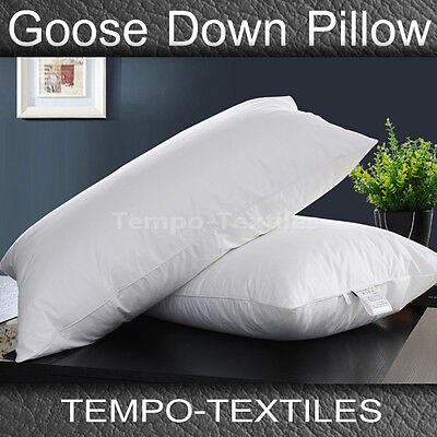 1/2PC Pack 50% White Goose Down 50% Feather Standard Pillow & Pure Cotton Covere