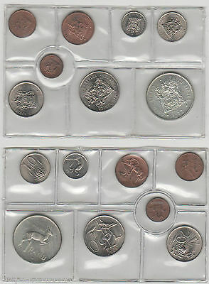 1972 Mint Set Of 8 Uncirculated Coins - 1/2 Cent - Silver Rand