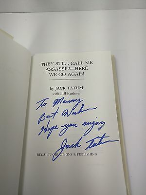 "Jack Tatum Signed Inscribed book ""They Still Call Me Assassin"" Oilers Raiders"