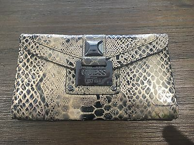 Guess Wallet Patent Snakeskin