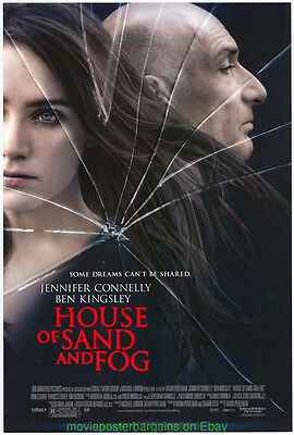 HOUSE OF SAND AND FOG MOVIE POSTER DS 27x40  JENNIFER CONNELLY - BEN KINGSLEY