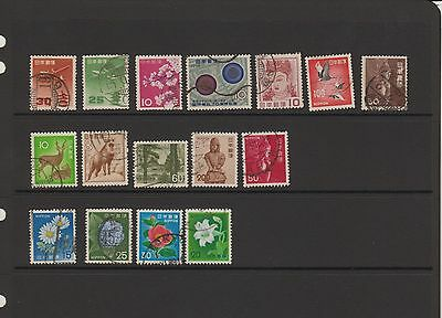 Japan - 16 used stamps  ( Lot 14 )
