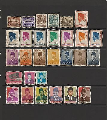Indonesia - 29 used stamps  ( Lot 15 )